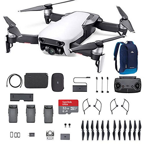 DJI Mavic Air Fly More Combo Arctic White Portable Quadcopter Drone With 32G SD Card