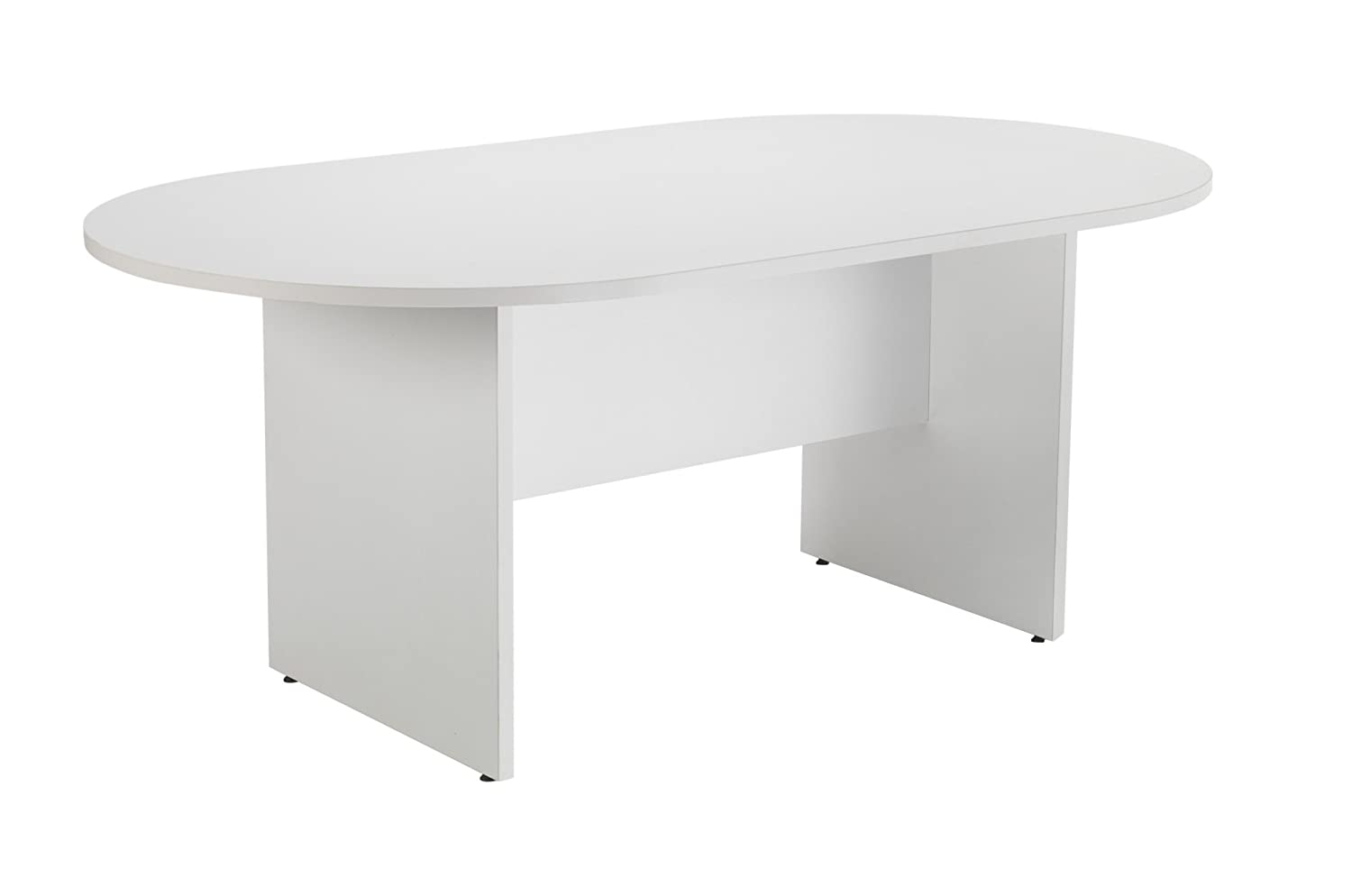 Office Hippo D-End Meeting Table, 180 cm - White TC Group OHD0100WH
