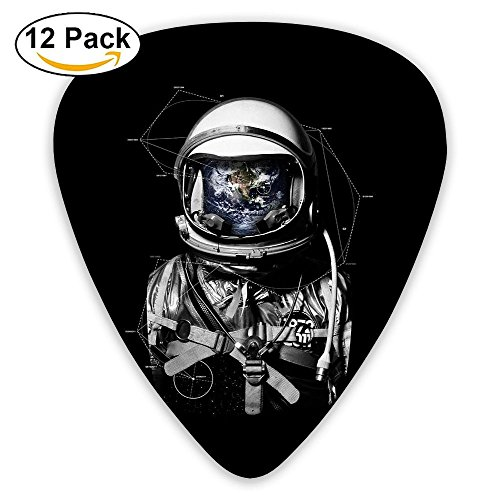 (Miniisoul Cool Celluloid Guitar Picks Space Astronaut Patterns Stylish Guitar Accessories 12 Pack For Acoustic, Electric, Original And Bass Guitars)