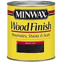 Minwax 22718 1/2 Pint Wood Finish Interior Wood Stain, Ebony by Minwax