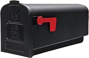 Gibraltar Mailboxes Parsons Medium Capacity Rust-Proof Plastic Black, Post-Mount Mailbox, PL10B0201