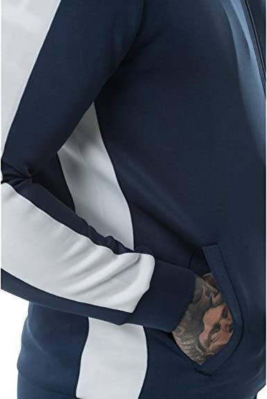 11 Degrees Chaqueta Chándal Azul Marino Poly Panel Hombre (XS ...