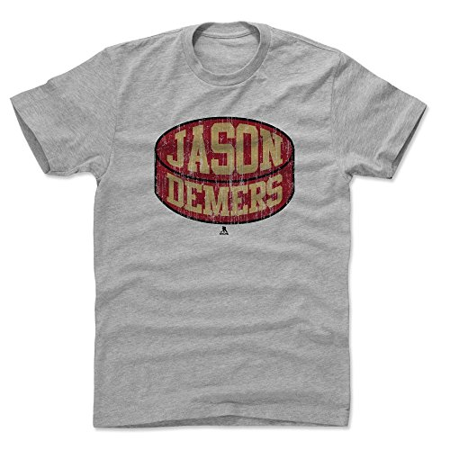500 LEVEL Jason Demers Cotton Shirt X-Large Heather Gray - Arizona Coyotes Men's Apparel - Jason Demers Arizona Puck R ()