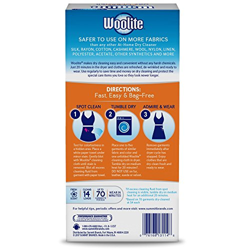 Woolite At Home Dry Cleaner Fresh Scent 14 Cloths