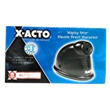 X-ACTO Mighty Mite Electric Pencil Sharpener, Black/Gray (W19502)
