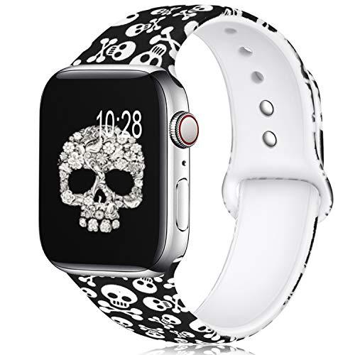 KOLEK Sport Bands Compatible For Apple Watch 44mm 42mm, Floral Replacement Bands Compatible For Apple Watch Sport Series 4/3/2/1,M/L