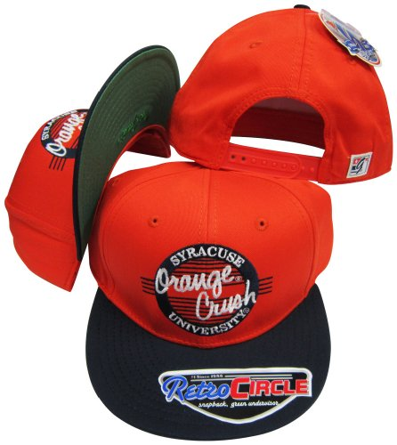 (Syracuse Orangemen Orange Crush Circle Snapback Adjustable Snap Back Hat/Cap)