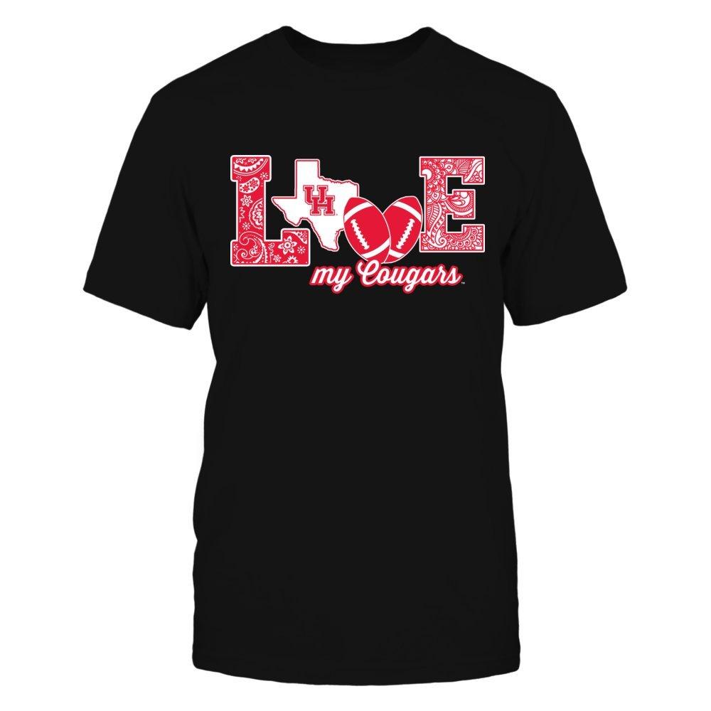 Houston Cougars - Love My Team - Football - Gildan Unisex T-Shirt - Officially Licensed Fashion Sports Apparel