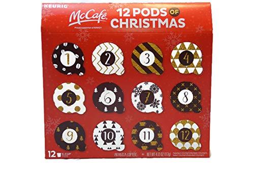 McCafe 12 Pods of Christmas Arabica Coffee - Keurig - 4.12 oz - 12 K-cup pods