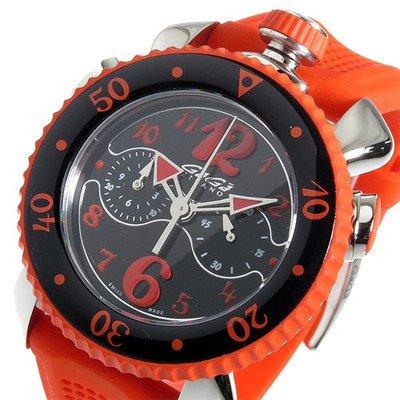 [ガガミラノ]GAGA MILANO クロノ クオーツ メンズ 腕時計 7010-05 ブラック/オレンジ [並行輸入品] B01KULZF1M