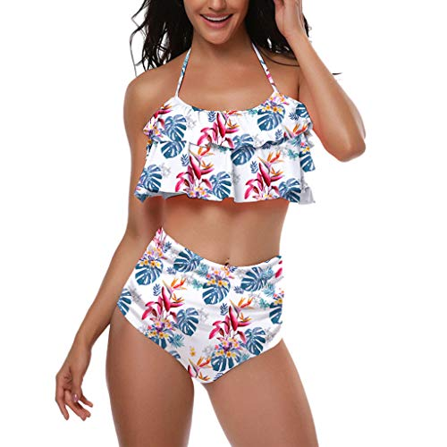 FEITONG Swimsuits for Women, Mother and Daughter Print Sexy Two Piece Swimsuit Matching Swimsuit Clothing(X-Large,White) from FEITONG