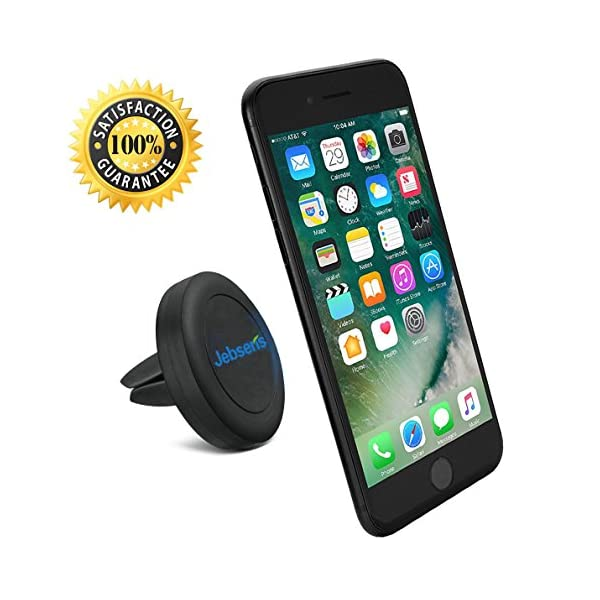 "Air Vent Car Mount Cell Phone Holder, JEBSENS CA02 Magnetic Air Vent Car Mount, Portable Universal Car GPS Smartphone Holder Mount, Apple IPhone 6/6 Plus (5.5""), 3 Metal Plates & Protection Film"