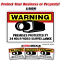 SECURITY SURVEILLANCE SIGNS 1 Sign & 3 Free Decal video