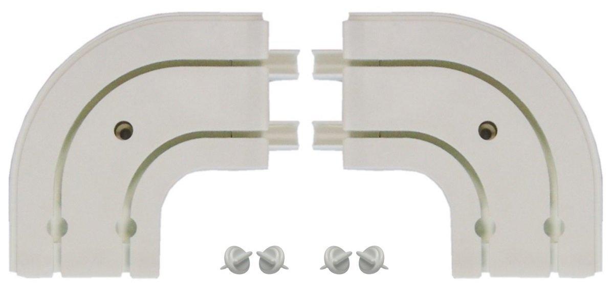 Accessoires pour rail de rideau /à 2 voies Wei/ß Piste dint/érieur 1x Erker Au/ßenbogen 2-l/äufig Blanc