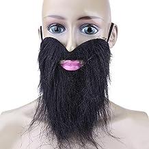 Namivad Fake Beard Mustache Halloween Costume Party Facial Dress Up Game Black Mustache Beard Funny