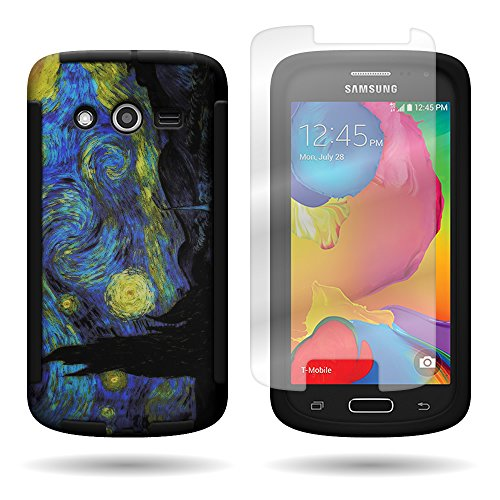Galaxy Avant G386 Case - CoverON Hybrid Impact Design Case Cover For Samsung Galaxy Avant G386 w/ Screen Protector Film - Starry Night