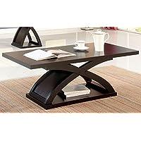 Furniture of America CM4641C Arkley Espresso Rectangular Coffee Table