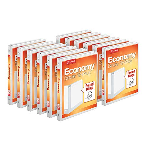 Clear Overlay White (Cardinal Economy 3-Ring Binders, 1/2