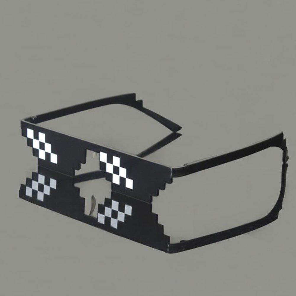 attachmenttou Thug Life 6/12 Bit Pixel acuerdo con ella Gafas de sol Gafas de sol Hombres Mujeres