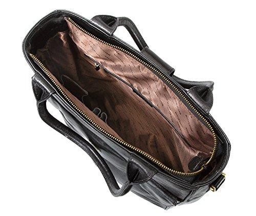 Da Kollektion Größe 1 Ja Vinci WITTCHEN Schwarz A4 39 für Passend Klassische 36x31cm Tasche Narbenleder 4 528 wwqPS0v