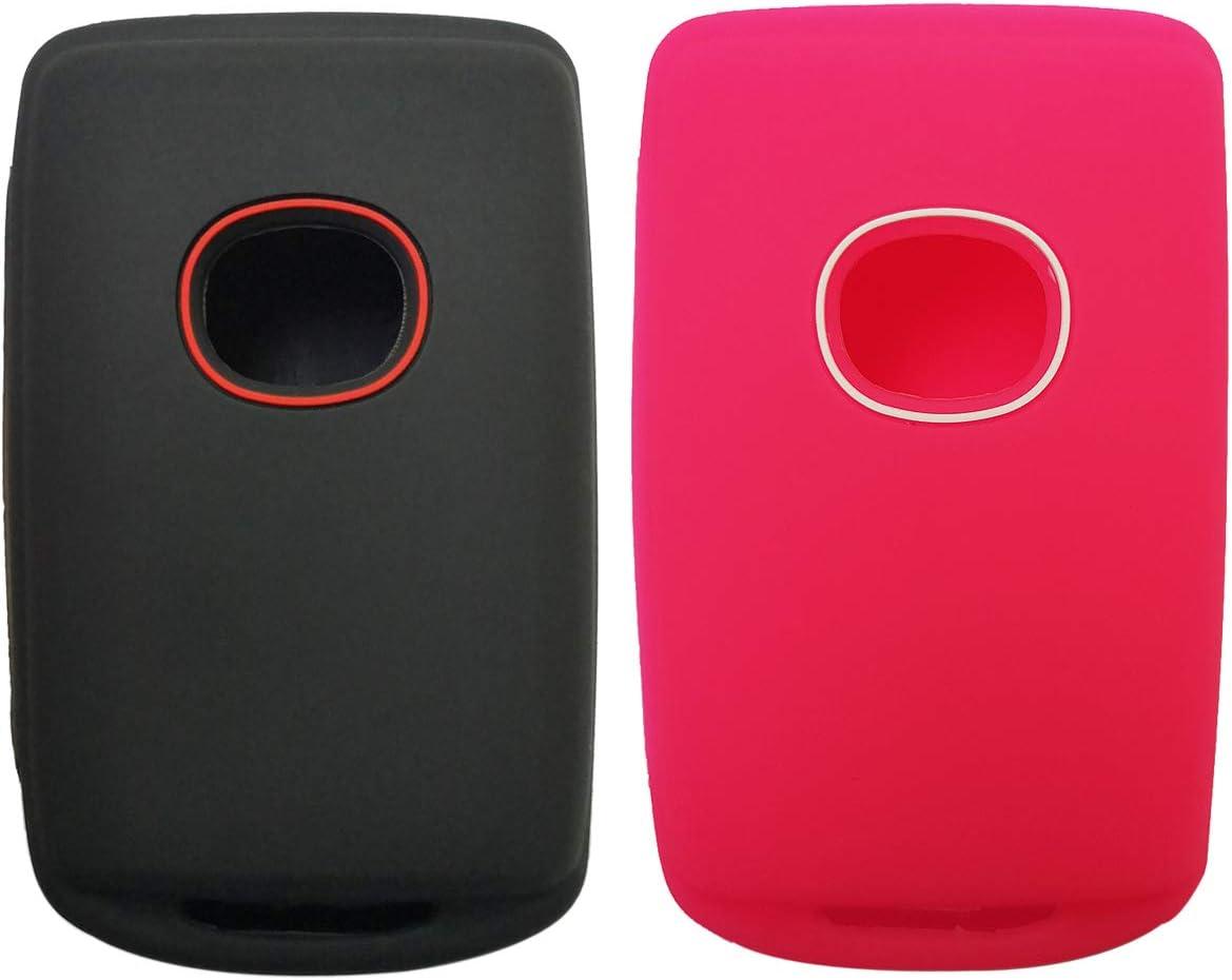 2Pcs Smart Key Cover Rubber Case Holder Skin Jacket Accessory Keyless Entry For 2019 2020 Mazda 3 WAZSKE11D01
