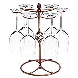 OKOKMALL US--New Wine Glass Rack Retro Goblet Cup Holder Stand Kitchen Bar Storage Organizer