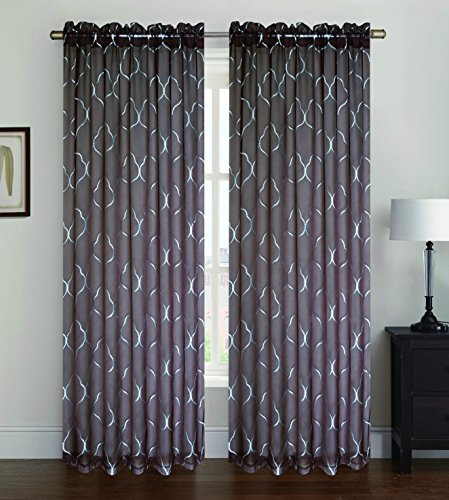 Kashi Home Ava Collection Window Sheer / Curtain / Panel 55