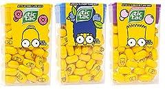 The Simpsons tic tacs Bart Bubble Gum Flavor, March Blueberry Flavor & Homer Donut Flavor