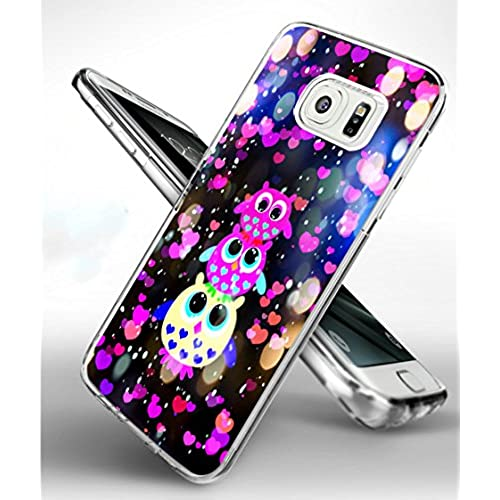 S7 Edge Case Owl,Samsung Galaxy S7 Edge TPU Soft Clear Full Protective Case - Three Dreamlike Lovely Colorful Owl Design for Girl 2016 Sales