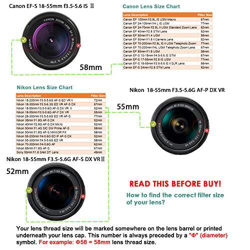 52mm Slim UV Ultra Violet Protection Lens Filter for Canon Nikon Sony DSLR Lens