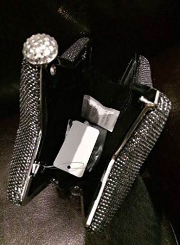 Zarapack de estrellas de para mujer funda para iPad Mini y rígida o cama de matrimonio forma bolso de fiesta con cadena de bodas - negro