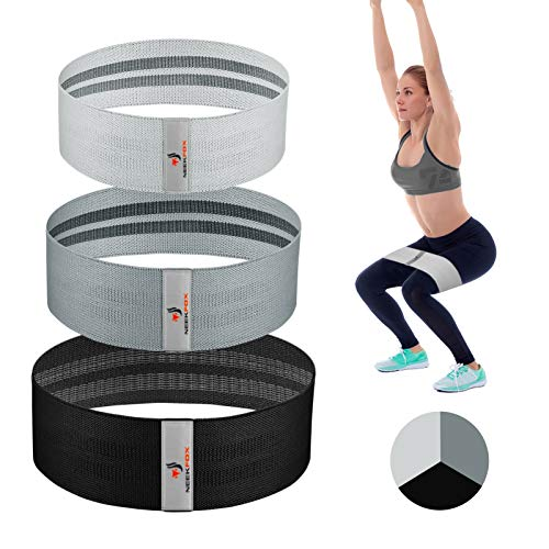 NEEKFOX Resistance Bands, Fabric Workout Bands, Exercise Bands for Legs and Butt, Women/Men Stretch Exercise Loops Sport Fitness Bands, Thick Wide Non-Slip Gym Booty Bands for Squat Glute Hip Training
