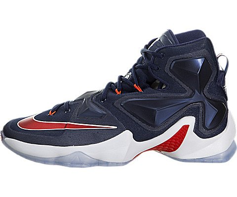 cf025d4c31a816 ... Nike Men s Lebron XIII Mid Navy University Red White Basketball Shoe -  11 D