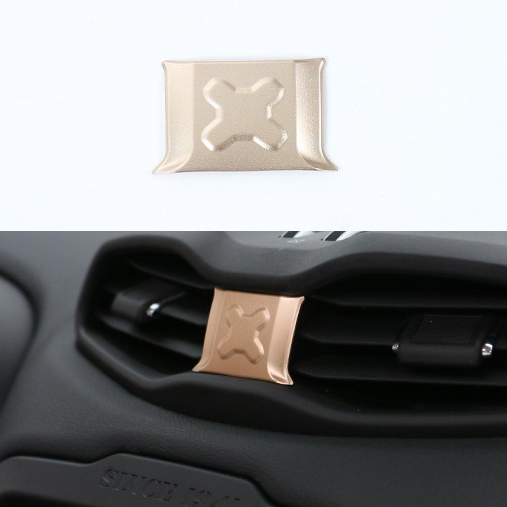 アルミニウム合金車中央ダッシュボード空気ベントカバートリムフレーム装飾for Jeep Renegade 2015 2016 BORUIEN B076HPFKHT ゴールド ゴールド