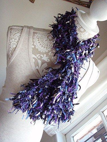Purple Silver Black Boa Style Knit (Knit Boa)