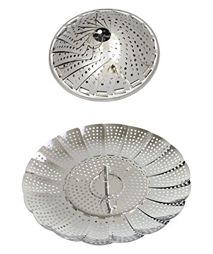 Basket Assembly Steamer (ECO-BEST(TM) 100% Stainless Steel Vegetable Steamer-5.5