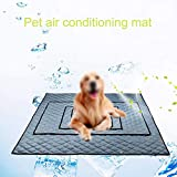 Baiwka Cooling Mat for Dogs and Cats, Self Cooling Cushions Bed for Dog/Pet, Pet Dog Ice Cooling Mat, Oxford Cloth for Home/Travel/Car Seats, 90x50cm L, Non-Toxic Durable Pet Cooling Mat