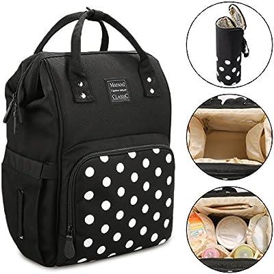 Mochila para bolsas de pañales, Marsoul mochilas para bebés de gran capacidad, mochilas para bebés con estilo y duraderas