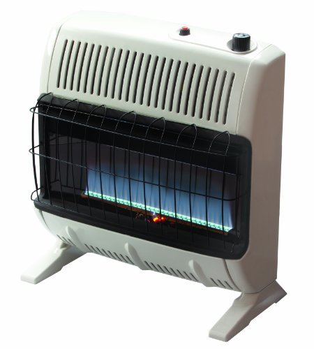 - Mr. Heater 30,000 BTU Natural Gas Blue Flame Vent Free Heater