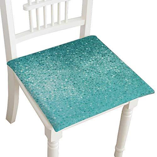 HuaWuhome Dining Chair Pad Cushion Blue Mosaic Fashions Indoor/Outdoor Bistro Chair Cushion 30