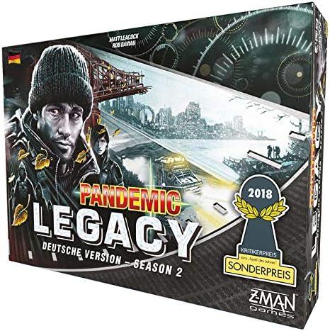 Z-Man Games zmnd0004 Pandemic Legacy – Season 2 Negro: Amazon.es ...