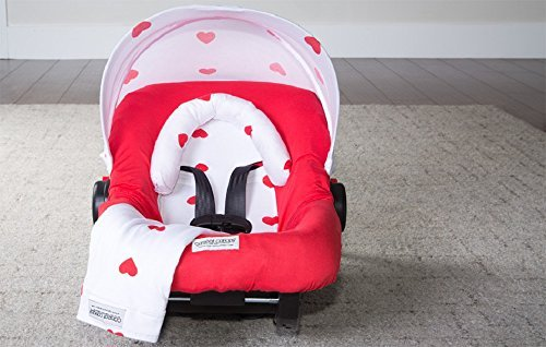 Carseat Canopy Whole Caboodle Jersey Stretch - Ruby