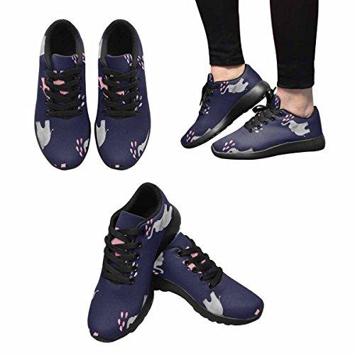Interestprint Femmes Jogging Running Sneaker Léger Aller Confort De Marche Facile Sport Chaussures De Sport Mignon Aquarelle Éléphants Modèle