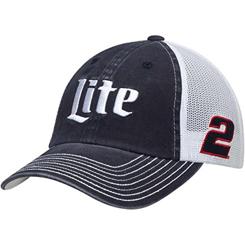 Brad Keselowski #2 Miller Lite Nascar 2018 Sponsor Trucker Mesh Hat / Cap Embroidered Brads