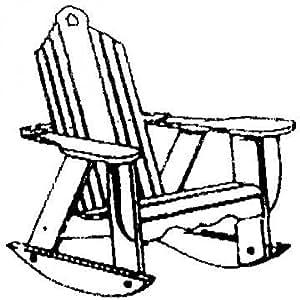Uwharrie Chair Company Bridgehampton Adirondack Rocker - Pine - Golden Mustard