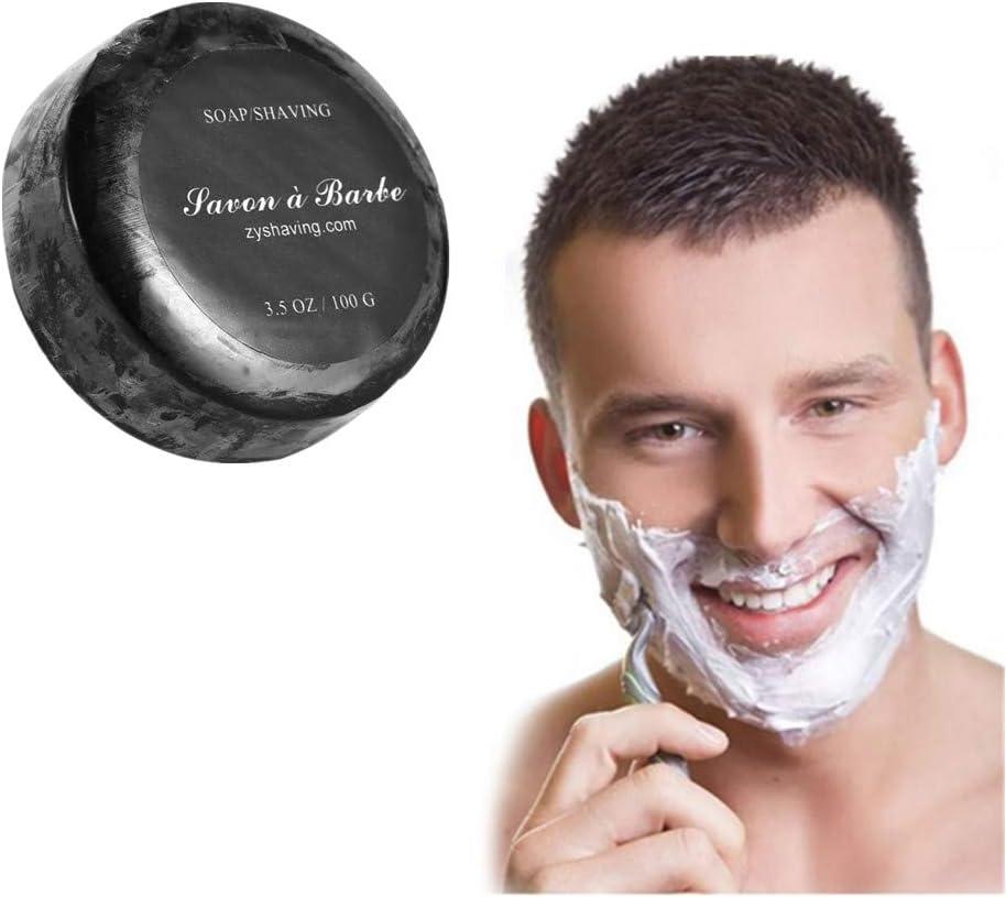 Hilai 1PC Jabón de afeitar con gel orgánico de aloe vera Jabón de Afeitar en caja de lata Arko Shaving Soap Proraso Jabón Para Afeitado cuenco Triple Pack Selección (Black)