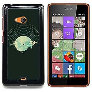 For Nokia Lumia 540 Case , Dj Música Disco Vinilo Vignette Hipster - Diseño Patrón Teléfono Caso Cubierta Case Bumper Duro Protección Case Cover Funda