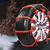 Simplylin 1/10Pc Winter Anti-Skid Chains for Car Snow Mud Wheel Tyre Thickened Tire Tendon,Auto and Motorcycle Exterior Protection/Accessories, Accessories, car tire Snow Chains (1PC)