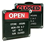 Headline Sign 3727 Double-Sided Open/Closed Sign w/Plastic Push Characters, 14 3/8 x 12 3/8