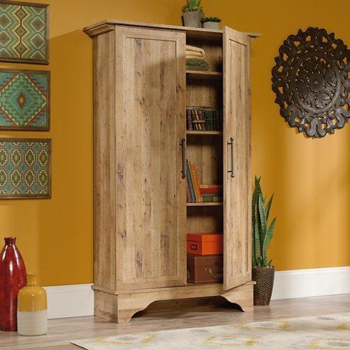 Sauder 420757 Storage Cabinet, 40.315″ x 13.15″ x 65.827″, Antigua Chestnut For Sale